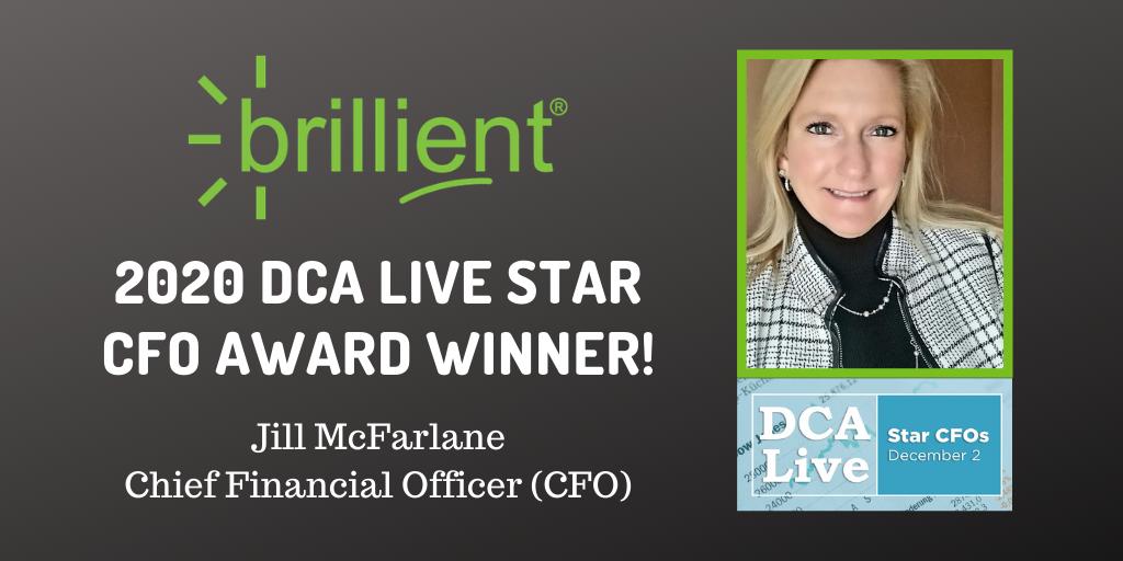 A graphic congratulating Jill McFarlane on her DCA Live Star Award
