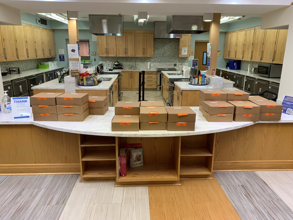 Dinner boxes at the Children's Inn