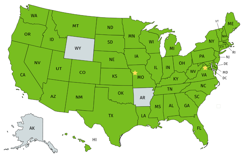 Employee Map of the United States