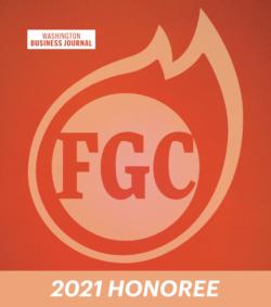 Washington Business Journal Fastest Growing Company Award Logo